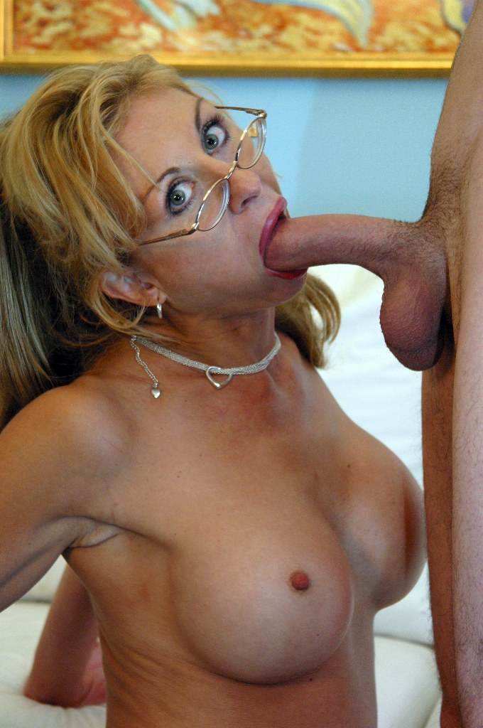 Mom with glasses porn something